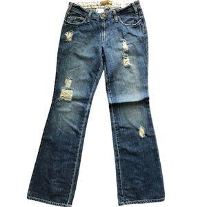 Hang Ten Dark Vintage Distressed Bootcut Jeans